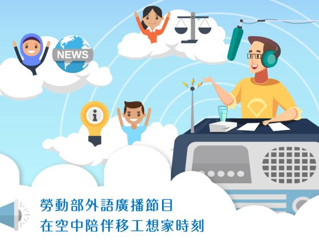 1080916勞動部勞動力發展署新聞稿(附圖1)_勞動部委託製播移工廣播節目。