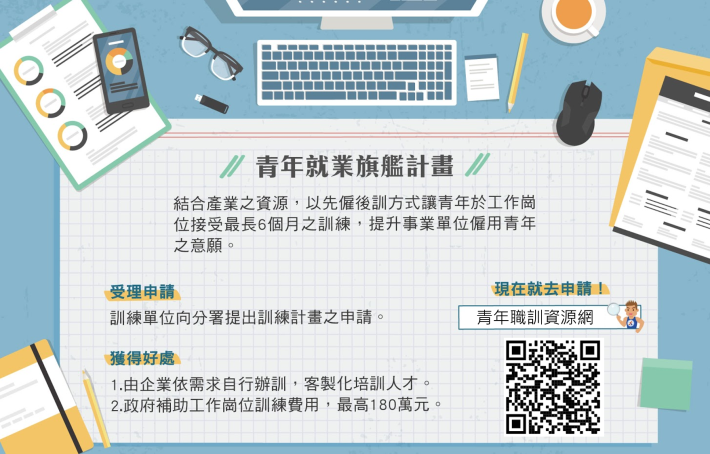 1090210勞動部勞動力發展署新聞稿(附圖)_青年就業旗艦計畫