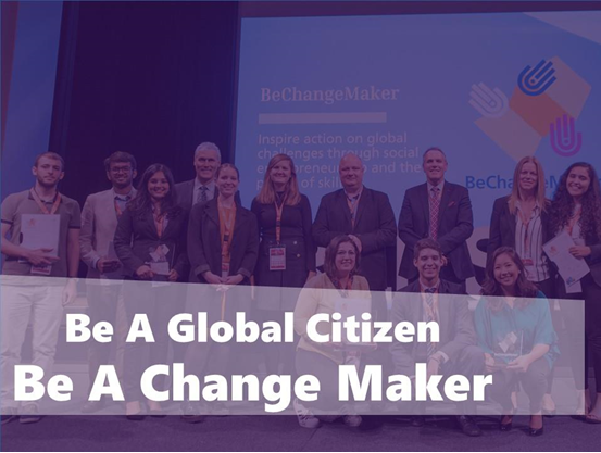 Be A Global Citizen Be A Change Maker