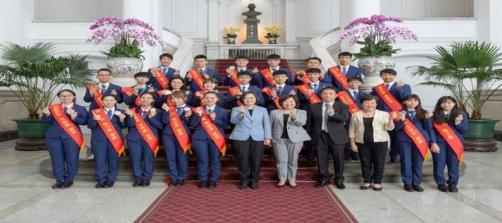 President Tsai Ing-wen received the 45th delegates