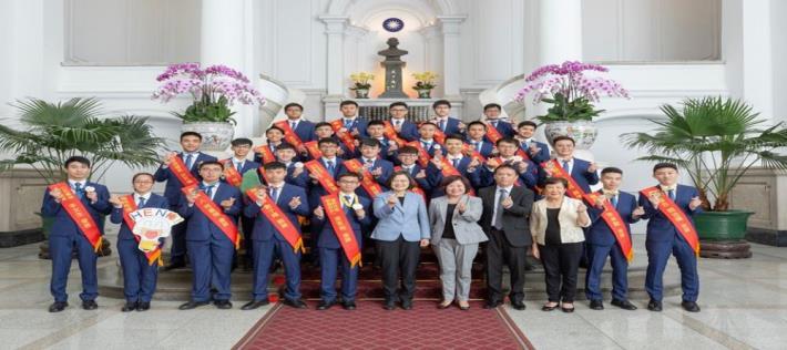 President Tsai Ing-wen received the 45th delegates 2