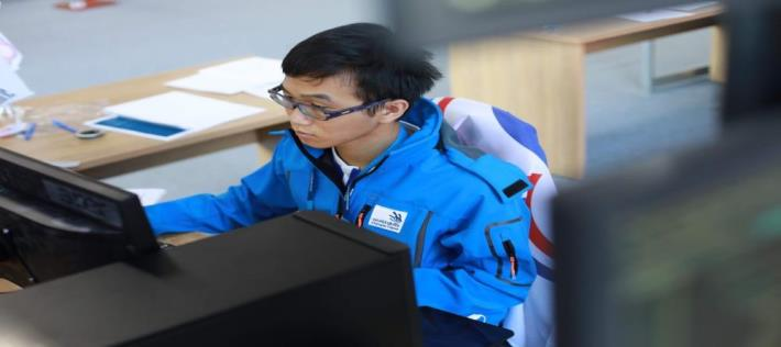the 45th WorldSkills Competiton_Competitor-IT Software Solutions for Business-