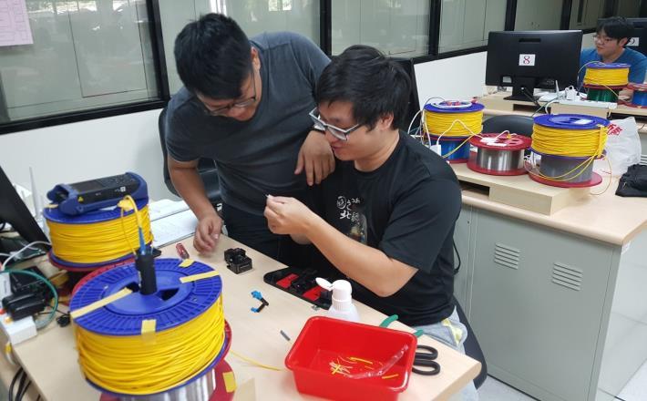 泰山訓練場「網路工程師實務應用課程」光纖介接實作訓練