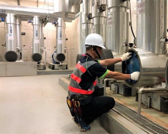 幸煌檢查冰水泵浦冰水管Y型過濾器