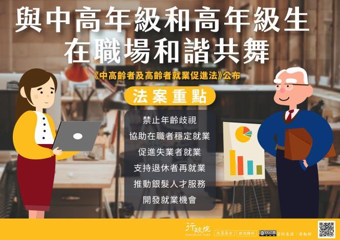 《中高齡者及高齡者就業促進法》