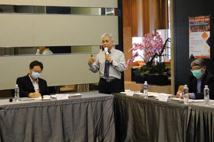 台中市旅行商業同業公會楊琮霖副理事長主講