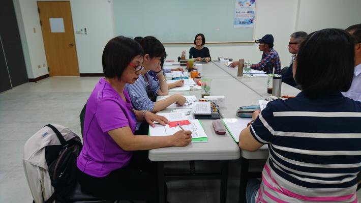 阿芳姐參加成長團體課程情形