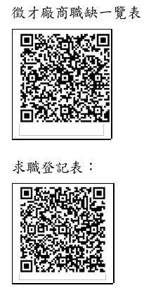 徵才廠商職缺一覽表及求職登記QR.JPG