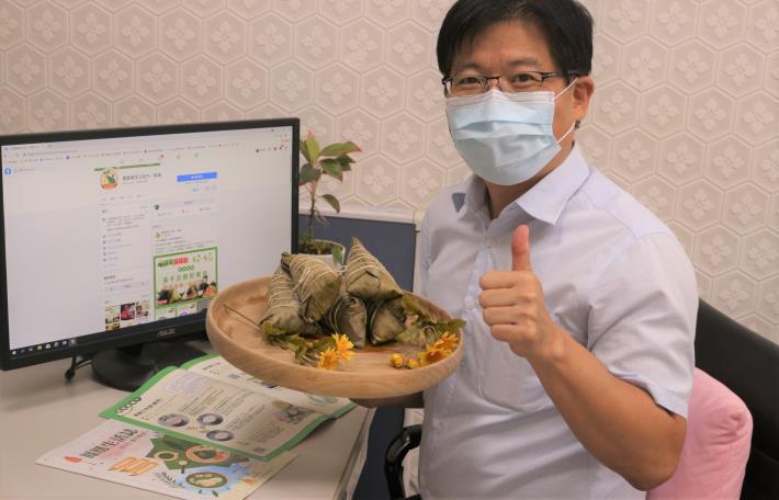 勞動部雲嘉南分署長劉邦棟鼓勵民眾在家選購「好時光線上市集」多元產品