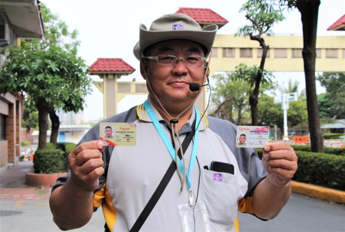 趙慶山感謝職訓課的幫助,讓他有完善的導覽基礎,並考取兩張專業證照,順利進入旅遊產業.JPG