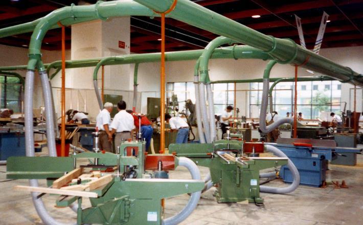 木工職類競賽場地機械加工區一景