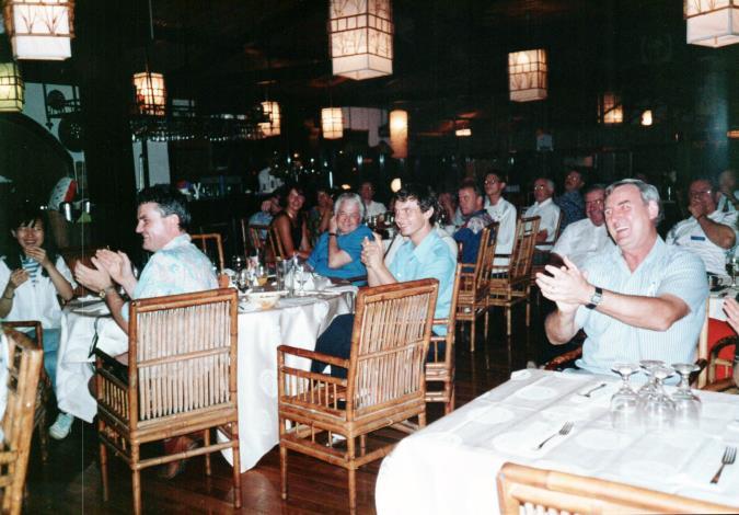 競賽期間裁判們的餐敘與聯誼活動(一)