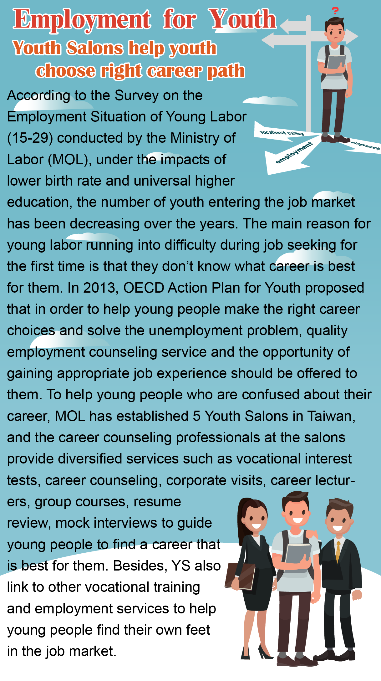 Youth Salons help youth choose right career path