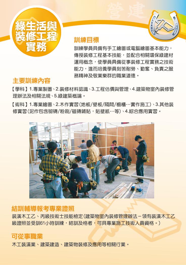 營建館綠生活與裝修工程實務