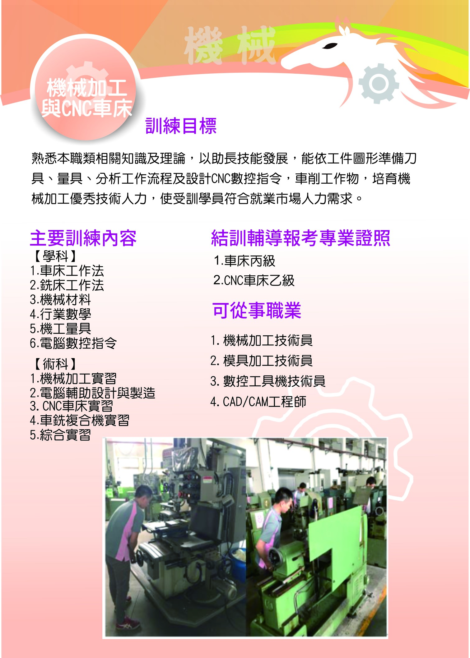 機械館機械加工與CNC車床